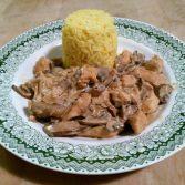 receta pollo con salsa de champiñones