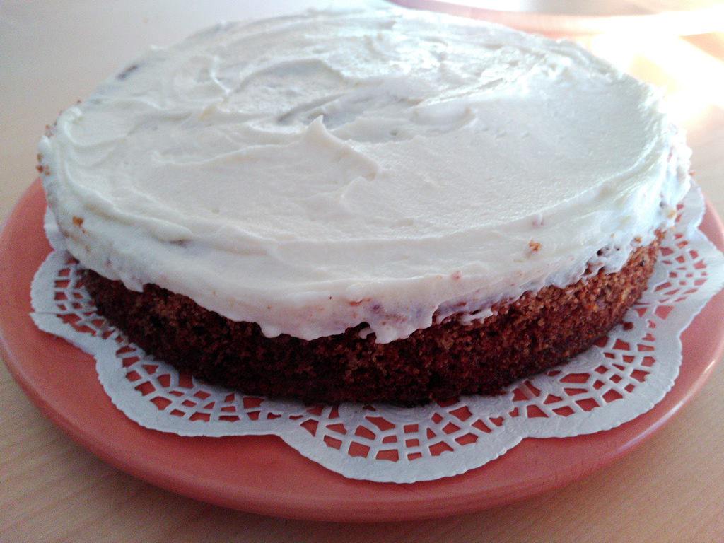 Foto receta pastel de zanahorias