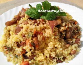Foto de receta de cuscus con verduras y pollo