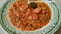Foto receta lentejas con chorizo