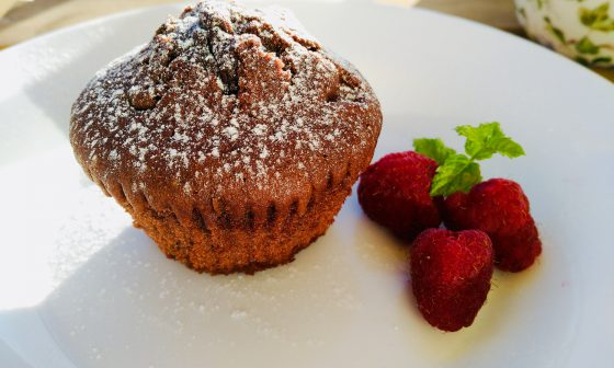 Foto muffins de chocolate caseras